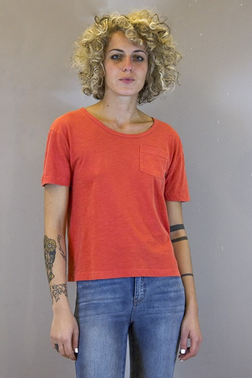 OBEY, ROSARIO POCKET TEE DUSTY CHILI PEPPER, TOP WOMAN, Way Side Shop