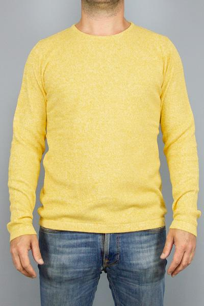 REVOLUTION, RVLT 6005 KNITTED SWEATER YELLOW, KNIT MAN, Way Side Shop