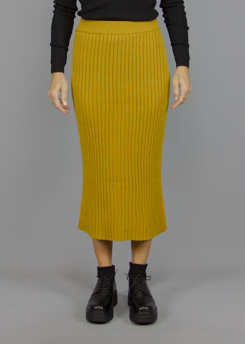 COMPANIA FANTASTICA, Compania Fantastica Unalaska Skirt Mustard, SKIRT WOMAN, Way Side Shop