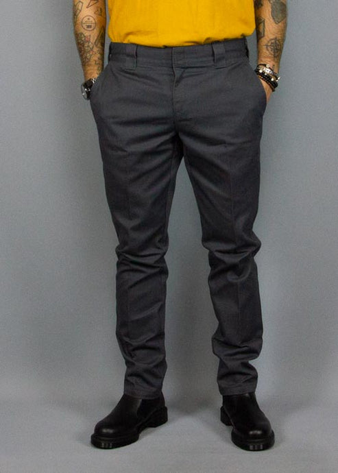 DICKIES, Dickies Slim Fit Work Pant Charcoal Grey, PANTS MAN, Way Side Shop