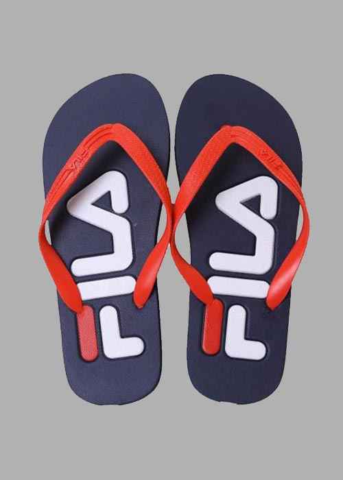 TROY SLIPPER BLUE/RED
