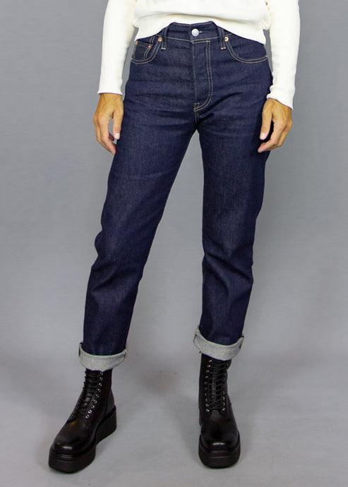 LEVI'S MADE & CRAFTED, Levi's Made & Crafted 501 Crop Indigo, PANTS WOMAN, Way Side Shop