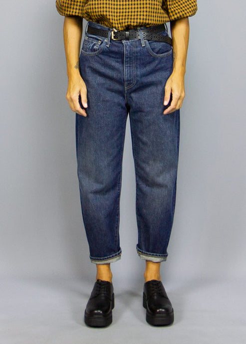 LEVI'S MADE & CRAFTED, Levi's Made & Crafted Barrel Crop Dark, PANTS WOMAN, Way Side Shop