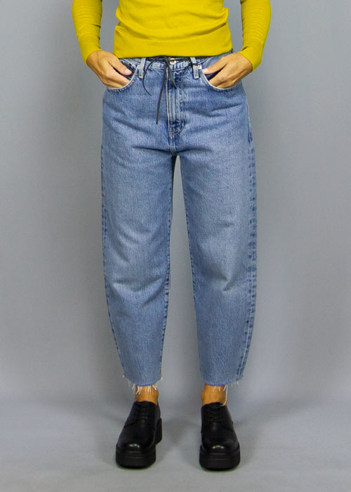 LEVI'S MADE & CRAFTED, Levi's Made & Crafted Barrel Crop Palm Blues, PANTS WOMAN, Way Side Shop