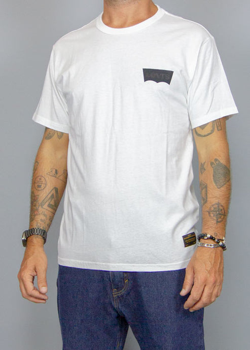 LEVI'S SKATEBOARDING, Levi's Skate T-Shirt Logo White, T-SHIRT MAN, Way Side Shop