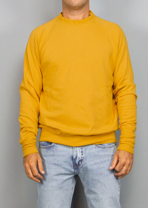 BOTTEGA CHILOMETRI ZERO, Madson Crewneck Modal Yellow, SWEATSHIRT, Way Side Shop
