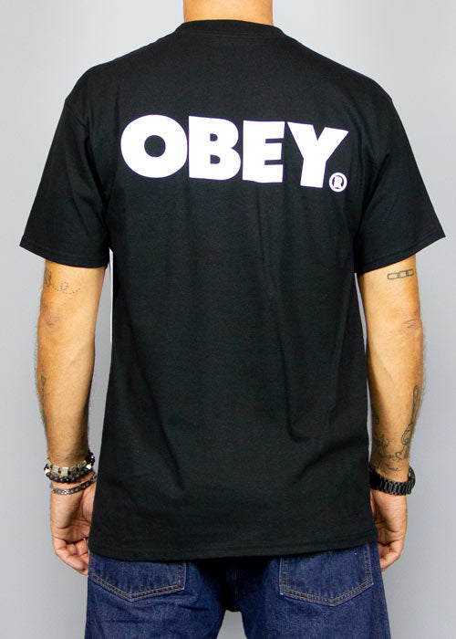 OBEY, Obey Bold Classic Tee Black, T-SHIRT MAN, Way Side Shop