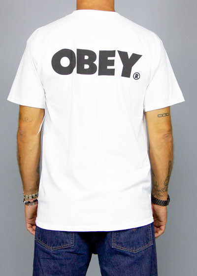 OBEY, Obey Bold Classic Tee White, T-SHIRT MAN, Way Side Shop