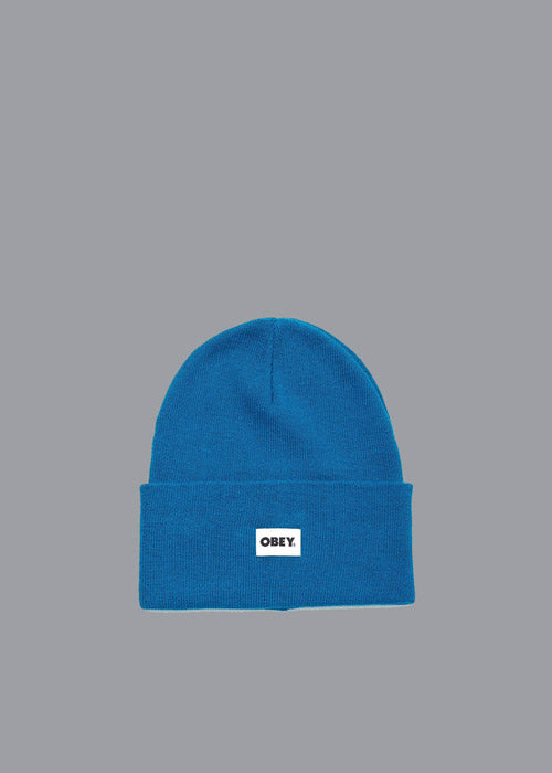 OBEY, Obey Bold Label Organic Beanie Blue Sapphire, CAP, Way Side Shop