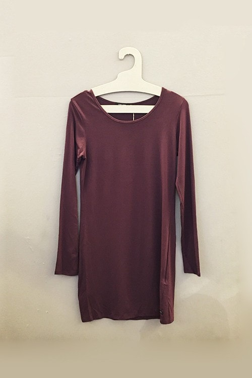 OBEY SP AMANDA DRESS WINE Way Side Shop DRESS WOMAN