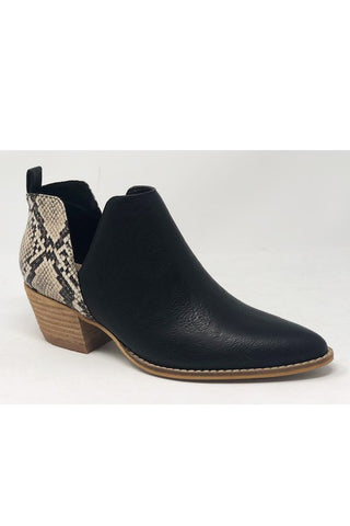 faux snake skin print boots