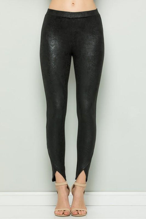 Snake Skin Leggings in Black