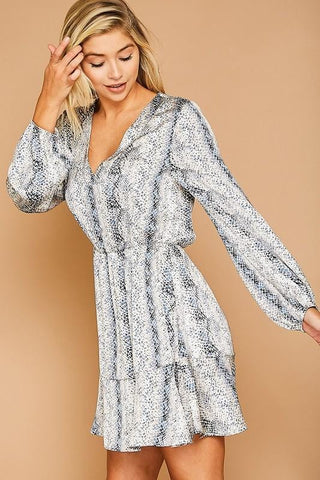Snakeskin Animal Print Flowy Dress