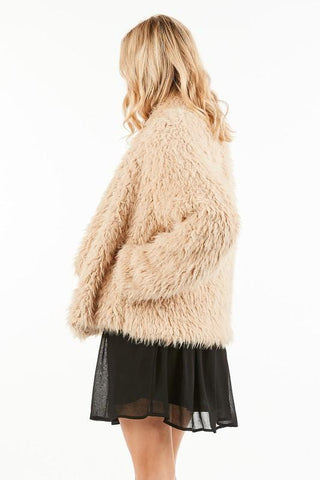 Faux Shearling Comfy Coat