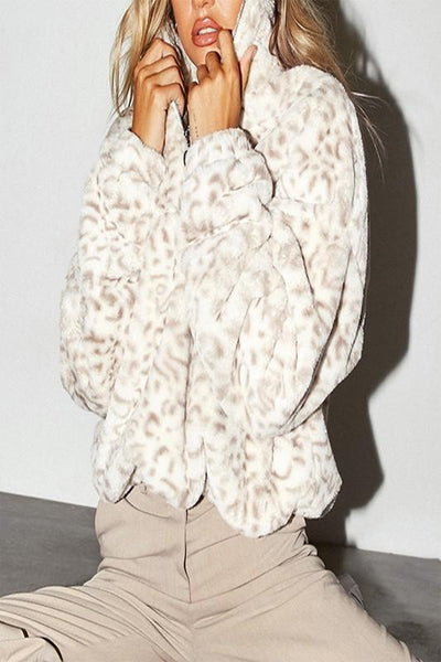 Soft Neutral Leopard Pullover Sweater