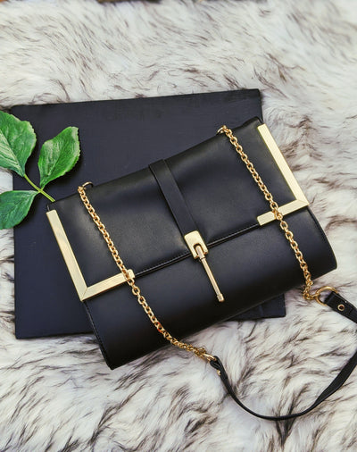 Black and Gold Crossbody handbag
