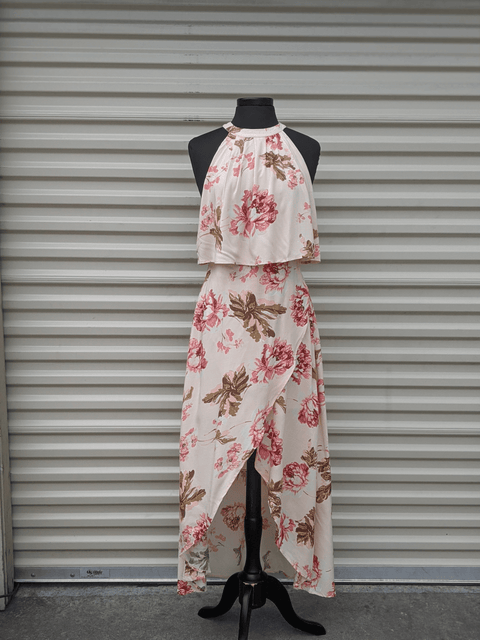 Floral Halter Oceanside Dress