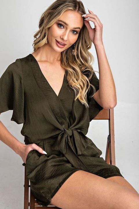 Front Adjustable Tie Romper