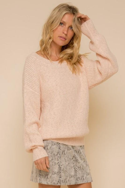 Soft Knit Crushed Blush Pullover Sweater
