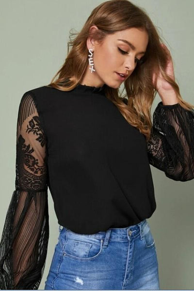 Lust Black Lace Blouse