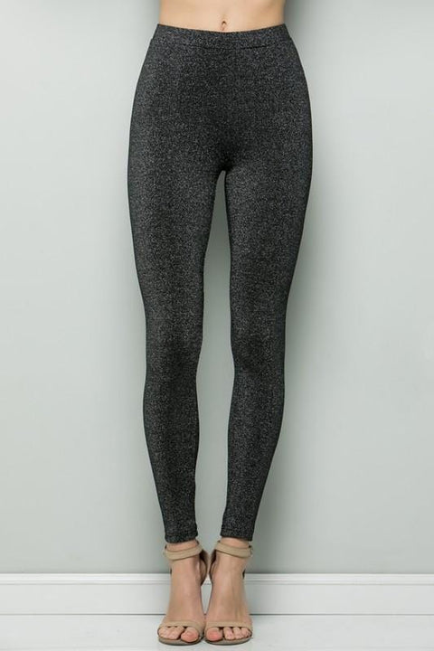Black Lurex Holiday Leggings