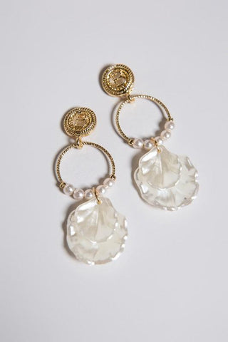 Hoop Shell Shaped Earrings