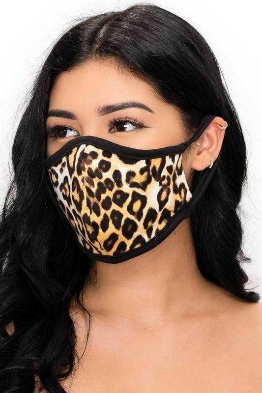 Soft Leopard Reusable Face Mask