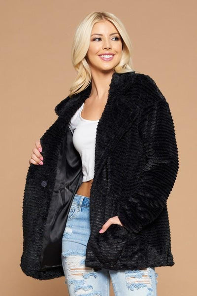 Must Have Faux Fur Black Jacket