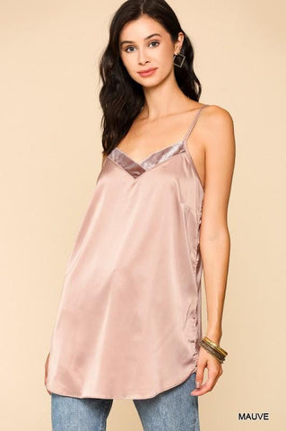 Velvet Lined Adjustable Camisole Tank