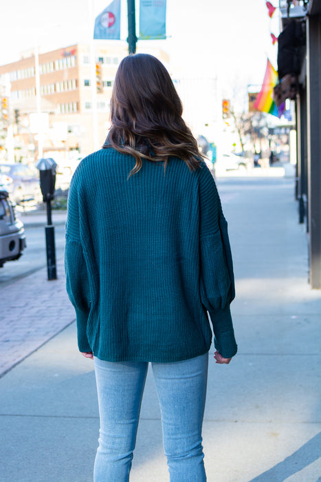 Turtle Dove Sweater (Teal)