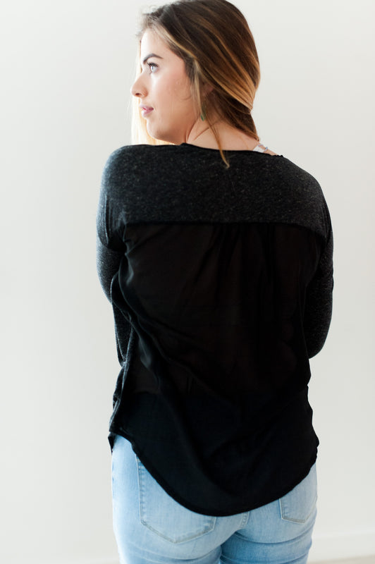 Chantelle Top (Black Speckle)