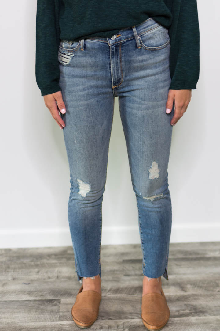Off Step High Rise Skinny Jeans