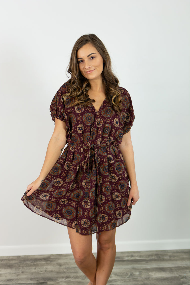 Lillette Dress (Burgundy)