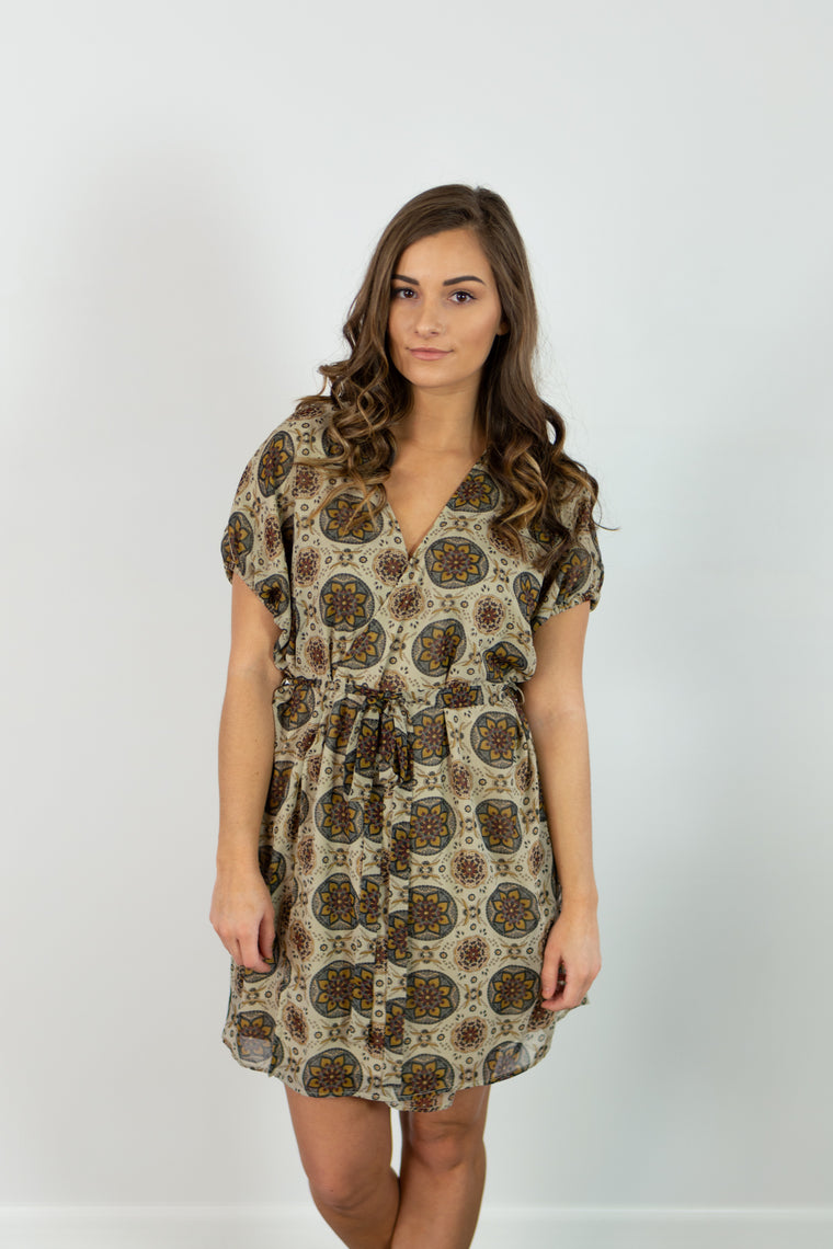 Lillette Dress (Taupe)