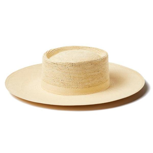 Natural Straw Cap Ferret Hat