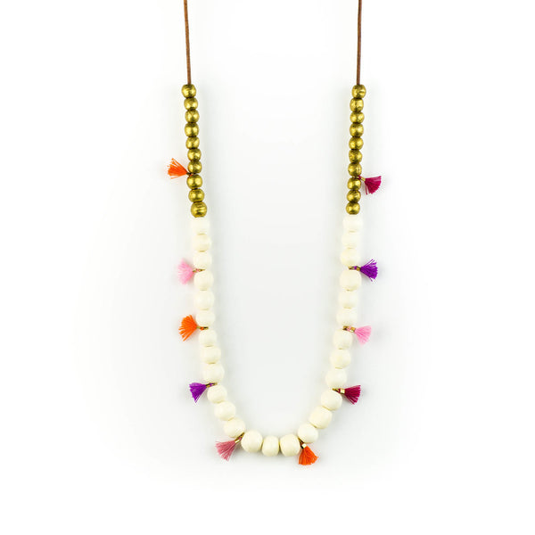 Bone and Brass Shay Necklace