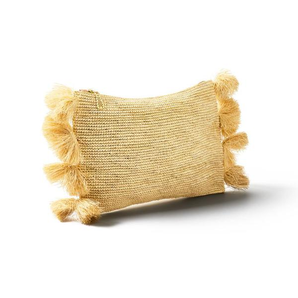 Natural Straw Laguna Pouch