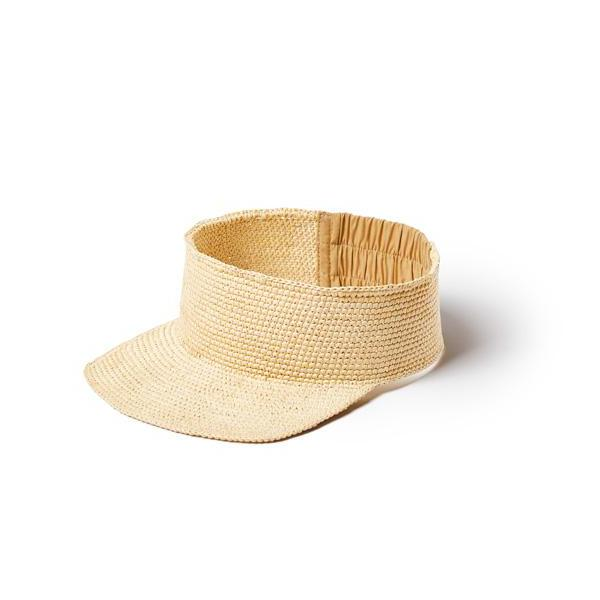 Natural Straw Copacabana Visor Hat