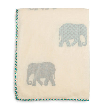 GOODEARTH, Mysore Haathi Dohar Cotton Blanket