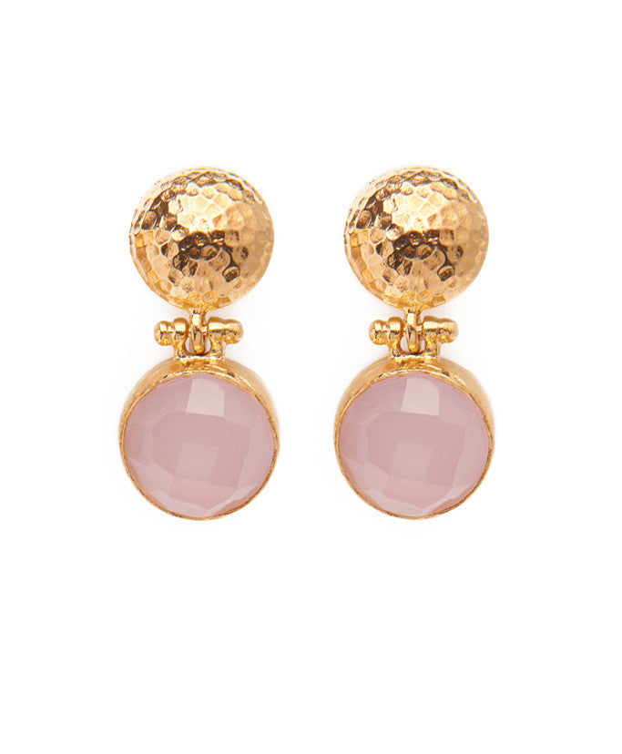 Pink Agate Farhat Earrings
