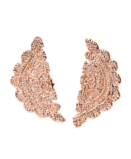 Rose Gold Plated Bronze Randall Earrings