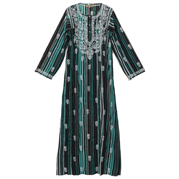 Multi Cotton Embroidered Caftan