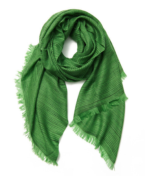 Bright Green Dash Cashmere Scarf