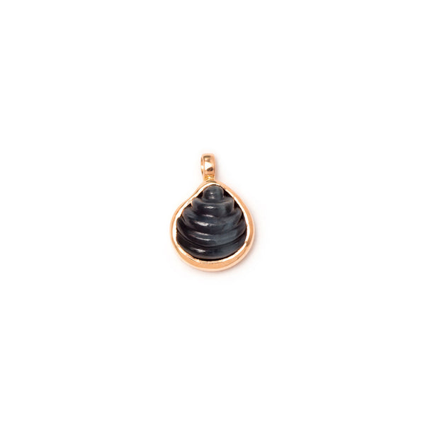 Petite Venus Carved Blue Tiger Eye Charm