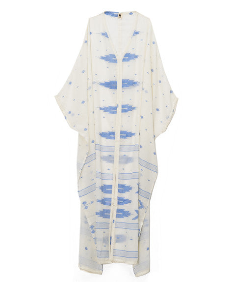 Blue Temple Cream Shehla Caftan