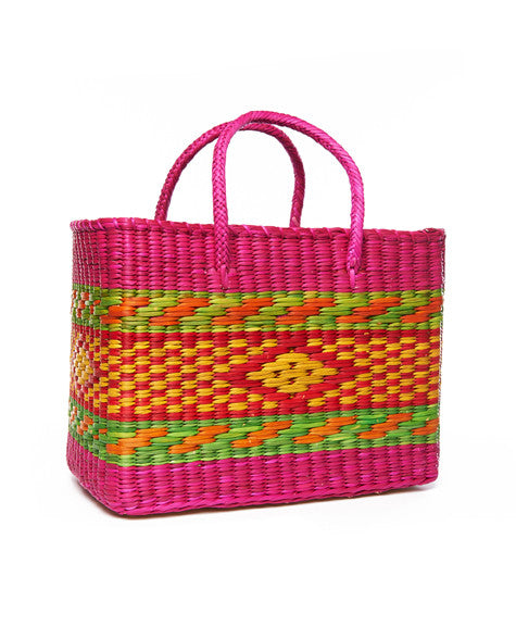 Hot Pink Diamond Brazil Basket Tote