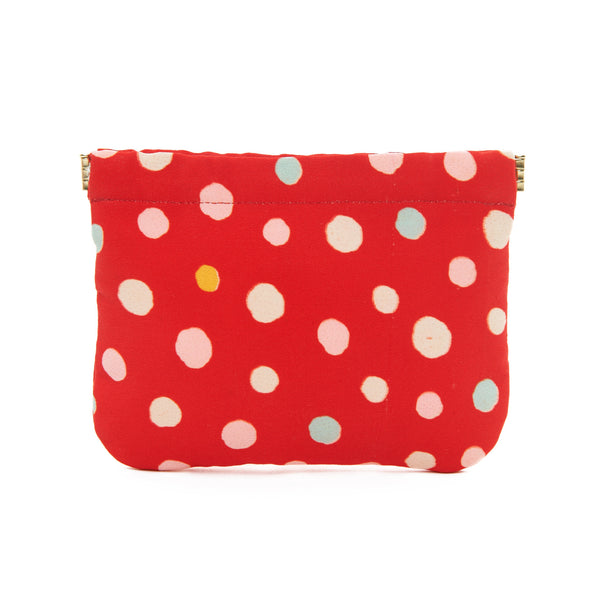 Red Polka Dot Mia Pouch