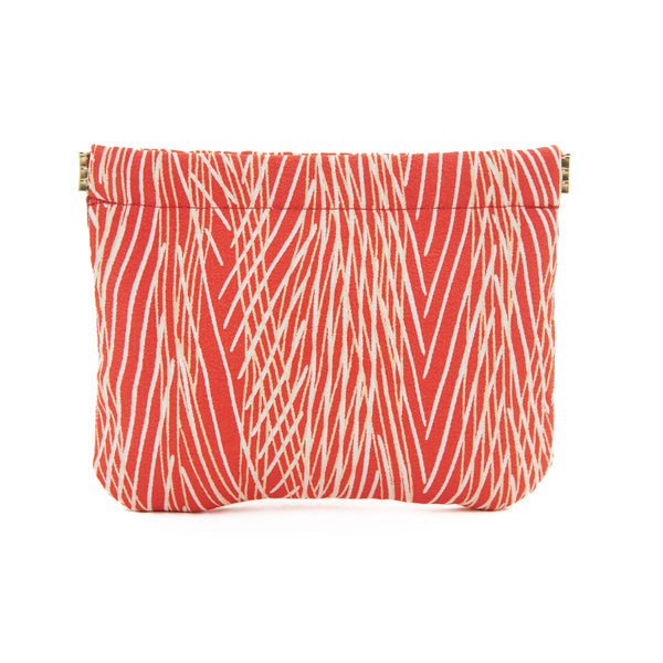 Red Striped Mia Pouch