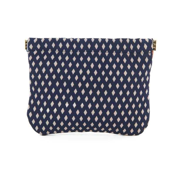 Black Geometric Mia Pouch