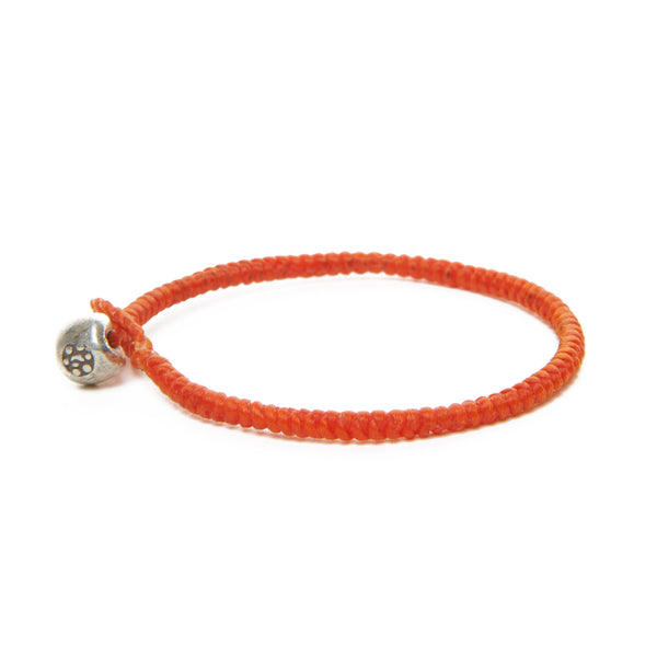 Kid's Orange Flower Nugget Bracelet